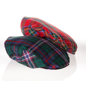 tartan plaid driving caps for men, made in Scotland
