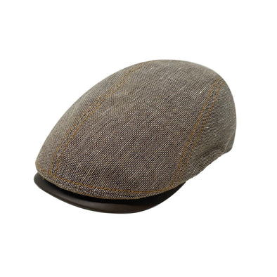 Jackson Driving Cap with Leather Peak