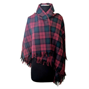 Worsted Wool Tartan Shawls — [ 18 Tartans ]