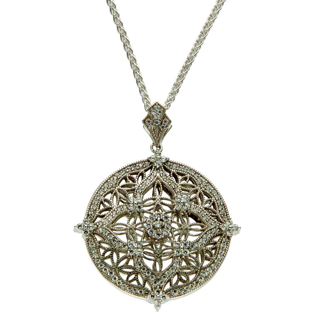 Night day reversible silver celtic pendant scotland house ltd light side of reversible silver cz celtic necklace aloadofball Images