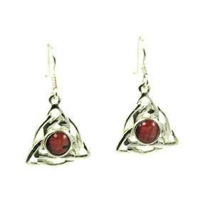 Heathergem Celtic Triangle Earrings — Scotland House, Ltd.