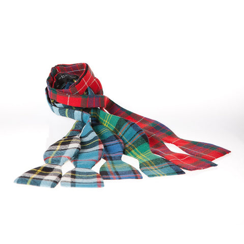 Wool Self-tie Tartan Bow Ties from Ingles Buchan of Scotland — [ 21 Tartans ]