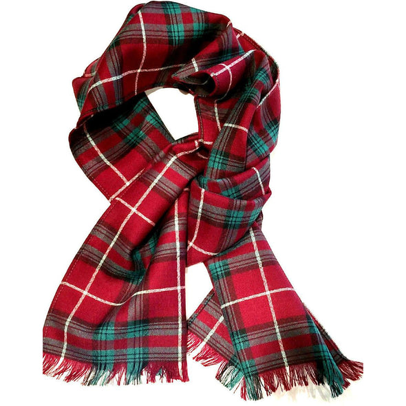 worsted wool tartan plaid scarves from Ingles Buchan of Scotland