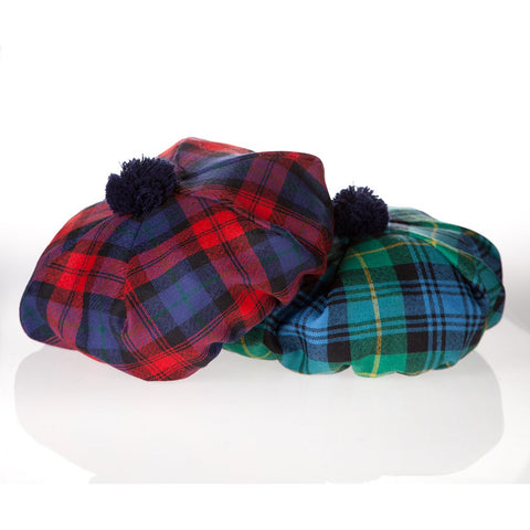 worsted wool tartan plaid tams from Ingles Buchan of Scotland