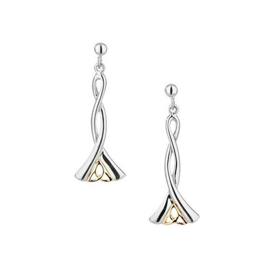Trinity Post Dangle Earrings