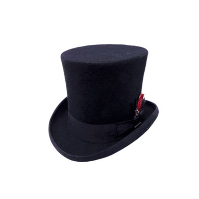 Feathered Wool Top Hat