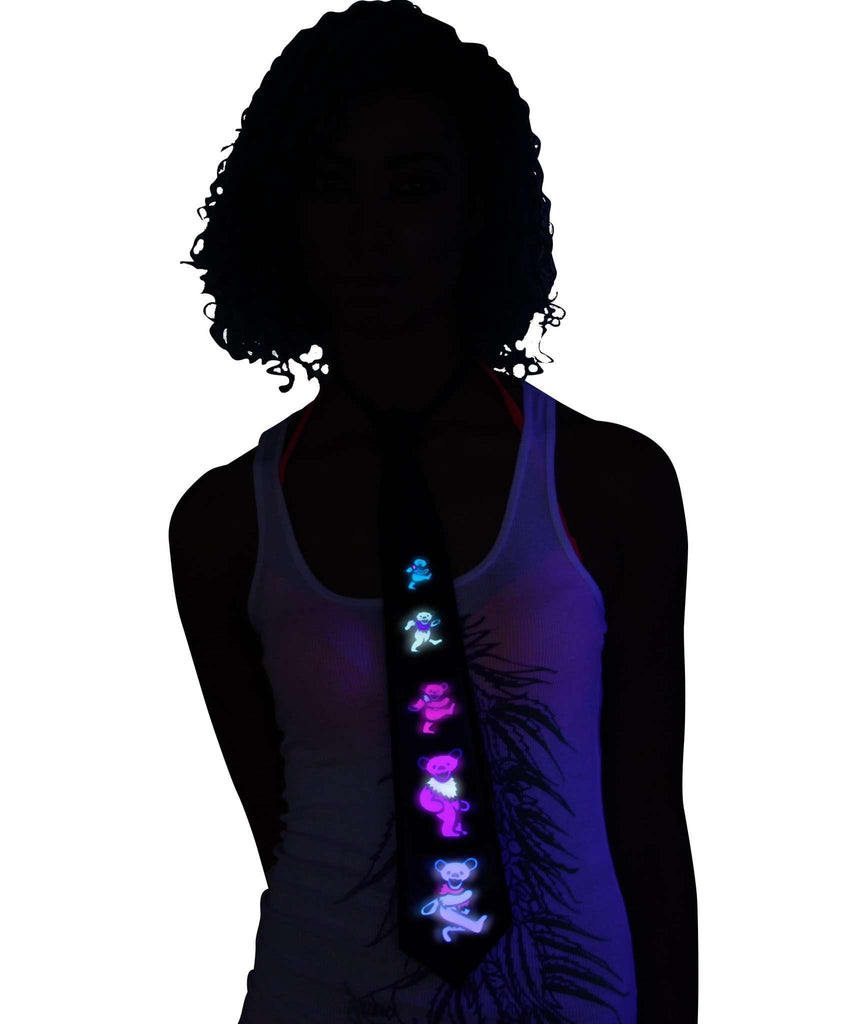 Grateful Dead Light Up LED Tie Sound Activated - Kandi Gear