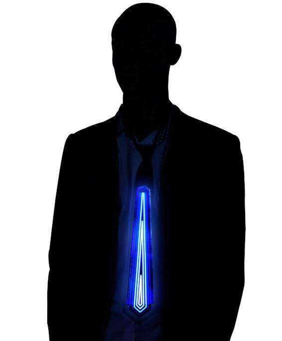 Diamond Light Up LED Tie Sound Activated