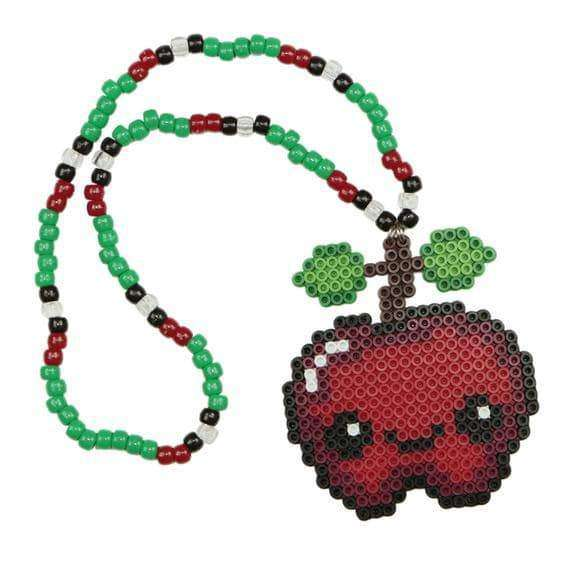 Cute Apple Kandi Necklace Bead Necklace - Kandi Gear