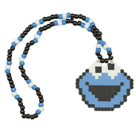 Cookie Monster Kandi Necklace - Kandi Gear