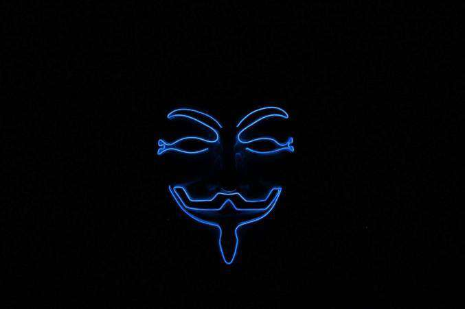 Blue V for Vendetta EL Wire LED Mask - Kandi
