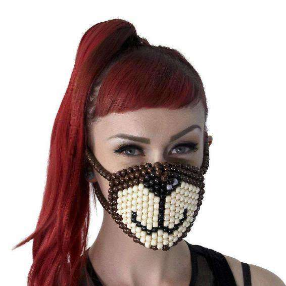 Brown Bear Surgical Kandi Mask by Kandi Gear