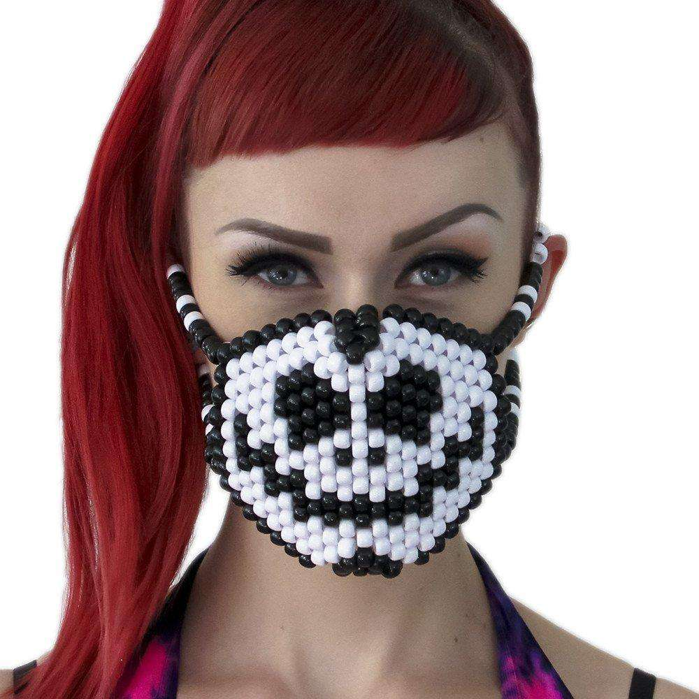 Jack Skellington Surgical Kandi Mask - Kandi