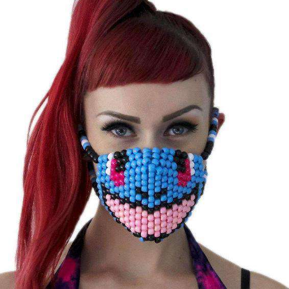Cute Smiling Turtle Squirtel Pokemon Kandi Mask - Kandi Gear