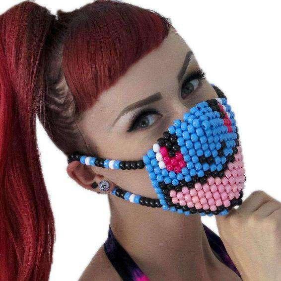 Cute Smiling Turtle Squirtel Pokemon Kandi Mask - Kandi