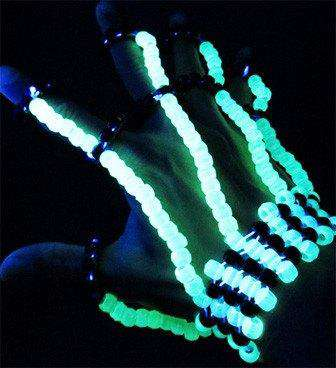 Glow in the Dark Kandi Fingerlets - Kandi Gear