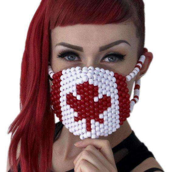 Canadian Flag Kandi Mask - Kandi Gear