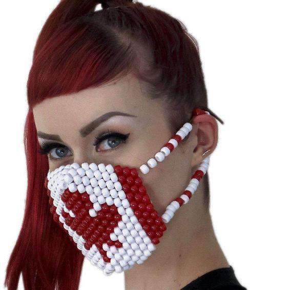 Canadian Flag Kandi Mask - Kandi