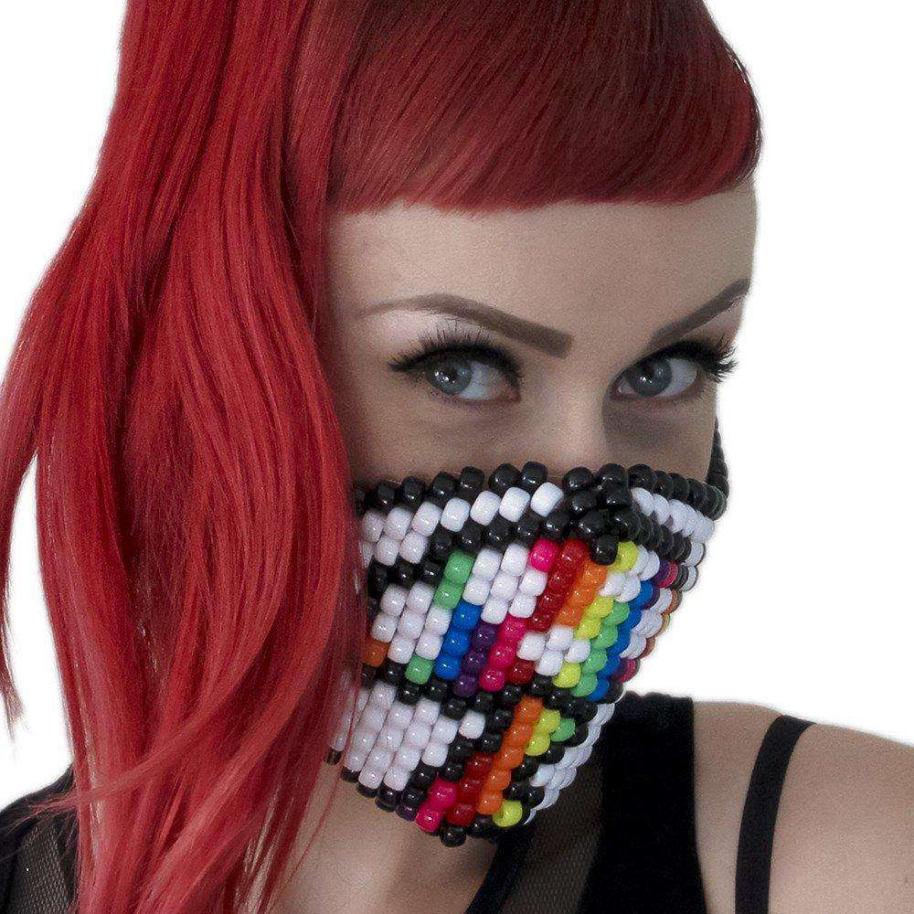Rainbow Magic Mushroom Kandi Mask