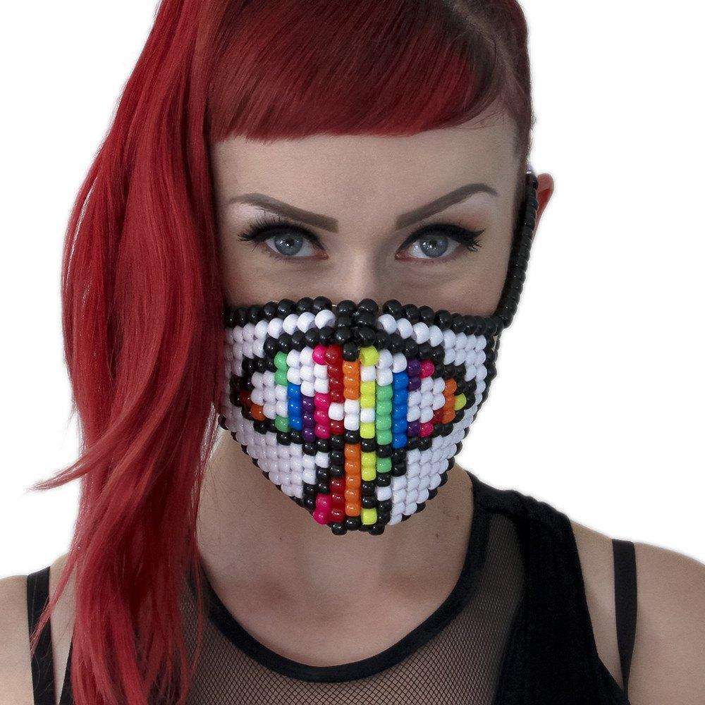 Rainbow Magic Mushroom Kandi Mask - Kandi