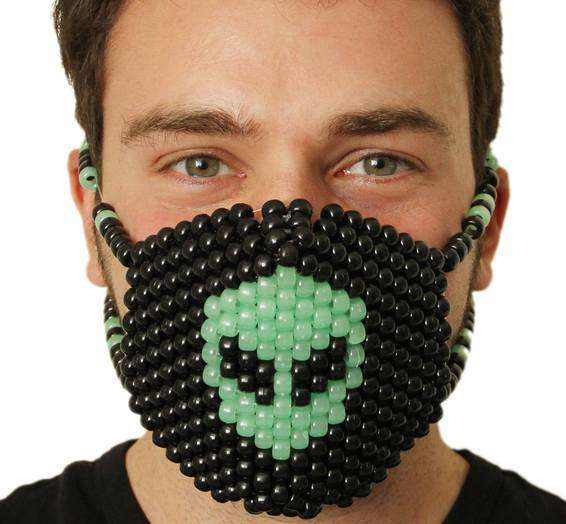 Glow In The Dark Alien Kandi Mask - Kandi Gear