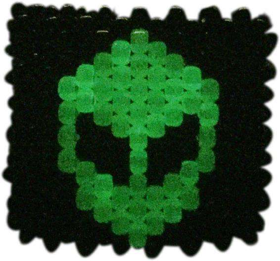 Glow In The Dark Green Alien Kandi Cuff - Kandi Gear