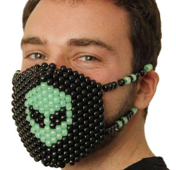 Glow In The Dark Alien Kandi Mask