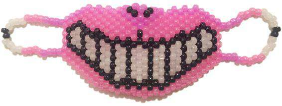 Glow In The Dark Cheshire Cat Kandi Mask Full - Kandi Gear