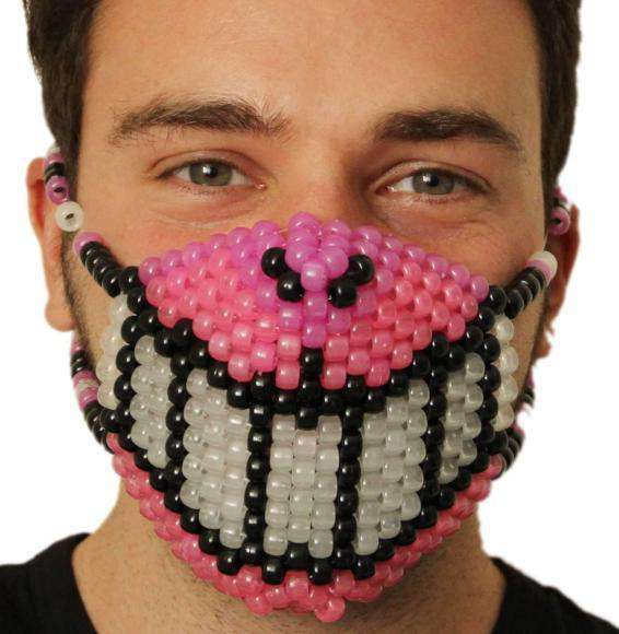 Glow In The Dark Disney Cheshire Cat Grin Kandi Mask - Kandi
