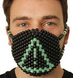 Glow In The Dark Danger Caution Kandi Mask