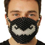 Glow in the Dark Moustache Kandi Mask - Kandi