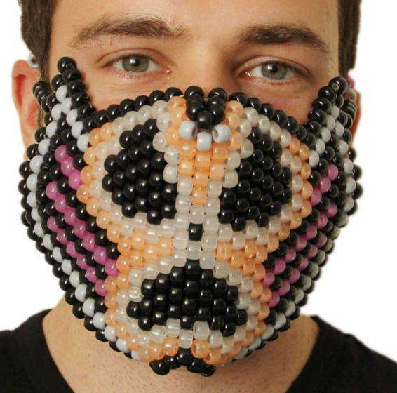 Glow In The Dark Radioactive Skull Kandi Mask - Kandi Gear