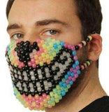 Glow in the Dark Rainbow Wolf Kandi Mask - Kandi Gear - 2