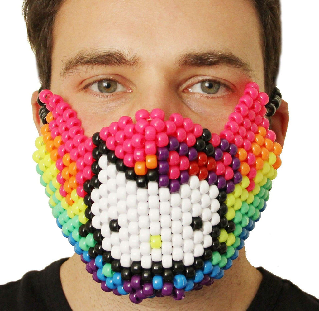 Rainbow Hello Kitty Kandi Mask - Kandi Gear