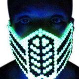 Glow In The Dark Reptile Mortal Kombat V1 Full Kandi Mask - Kandi Gear