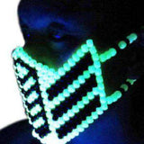 Glow In The Dark Reptile Mortal Kombat V1 Full Kandi Mask
