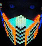 Glow In The Dark Mortal Kombat Cyrax Kandi Mask - Kandi