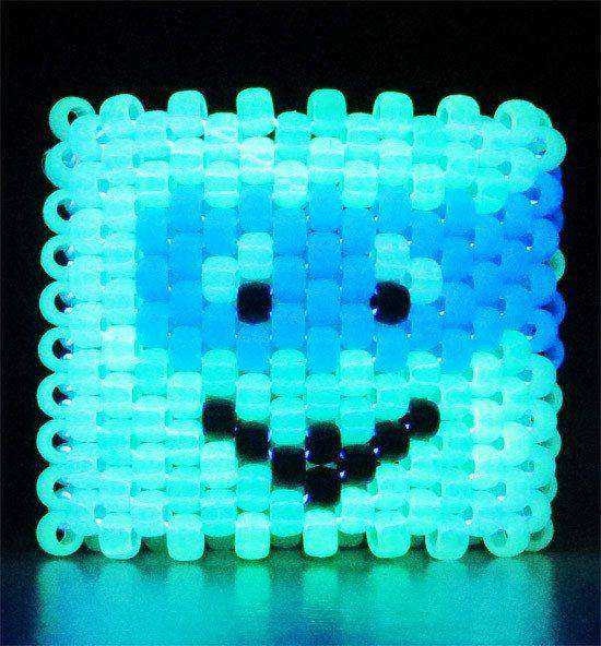 TMNT Glow in the Dark Leonardo Kandi Cuff - Kandi Gear - 2