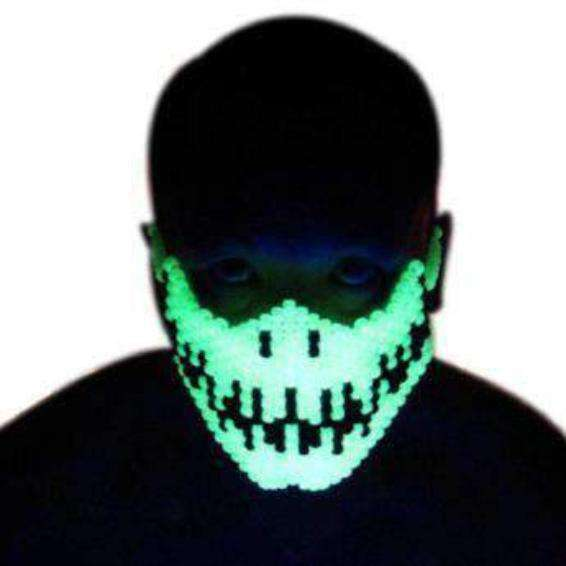 Glow In The Dark Skeleton Kandi Mask - Kandi Gear - 1