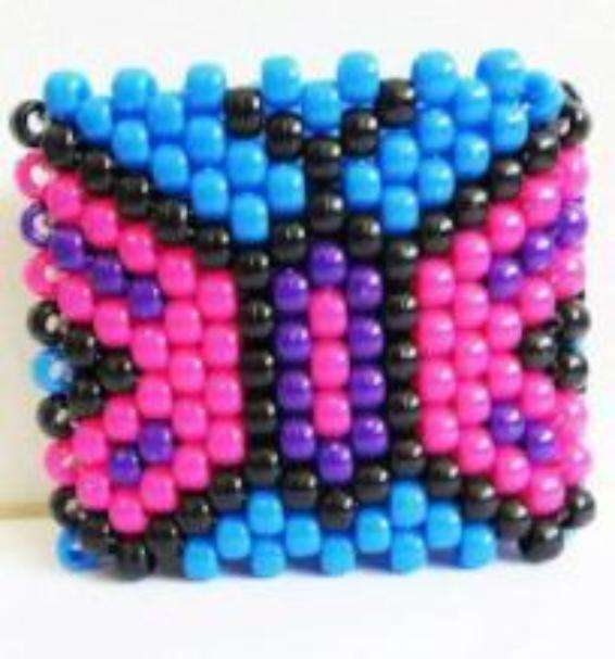 Beautiful Butterfly Kandi Cuff - Kandi