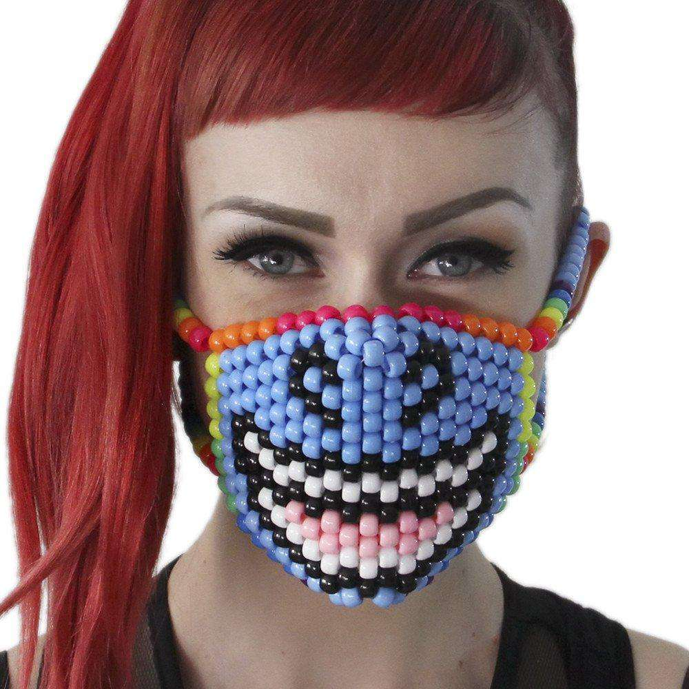 Smiling Unicorn Kandi Mask - Kandi Gear - 1
