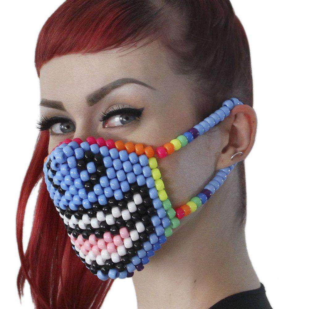Smiling Unicorn Kandi Mask - Kandi Gear - 3