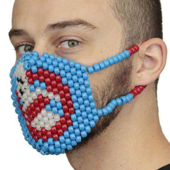 Glow In The Dark Ghost Busters Kandi Mask Surgical - Kandi