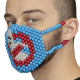 Glow In The Dark Ghost Busters Kandi Mask Surgical
