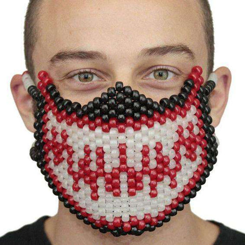 Glow In The Dark Panda Smile Kandi Mask