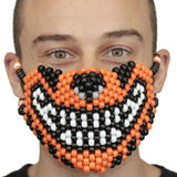 Orange Tiger Kandi Mask - Kandi Gear - 2