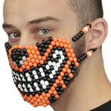 Orange Tiger Kandi Mask - Kandi Gear - 3