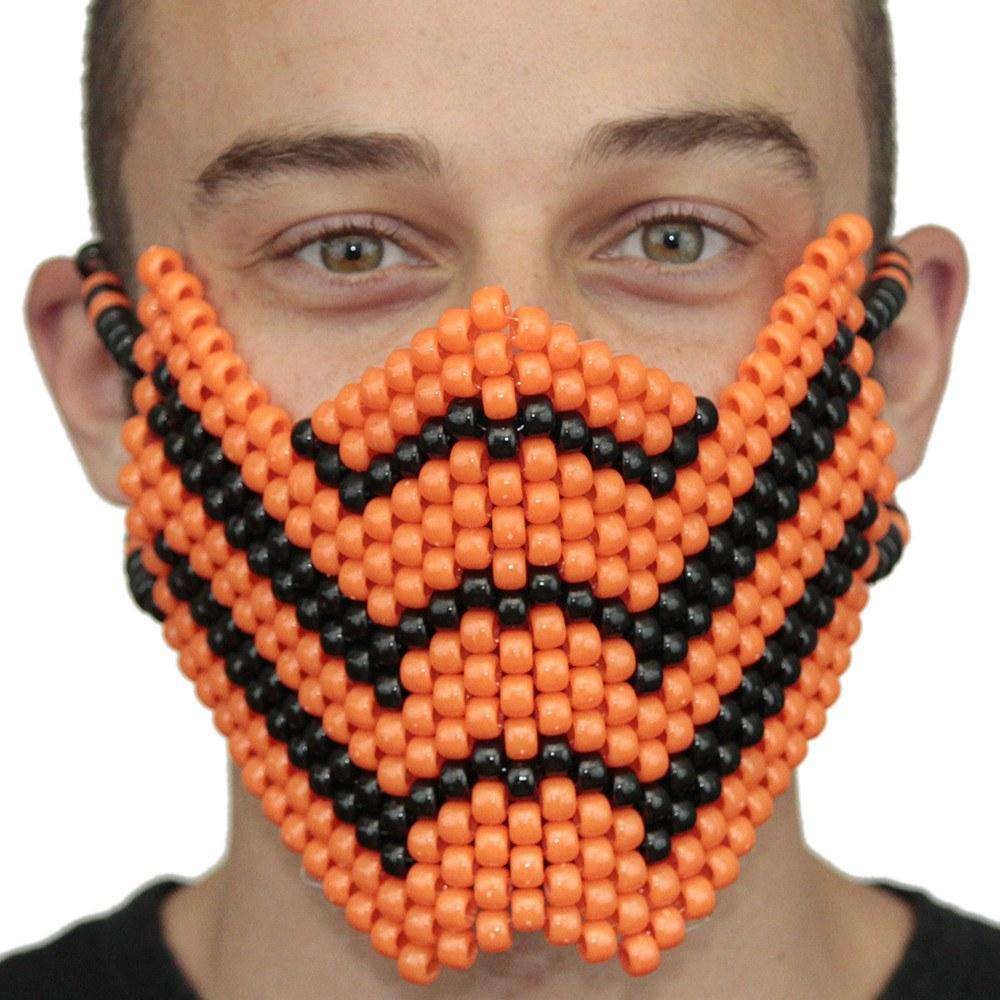 Orange Scorpion Mortal Kombat V1 Full Kandi Mask - Kandi Gear