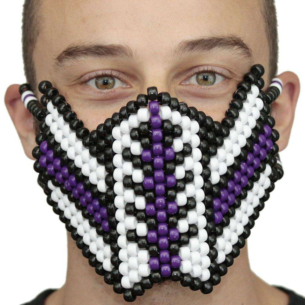 Venom Purple and White Spiderman V1 Kandi Mask