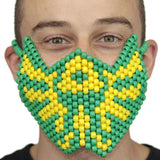 Tomorrowland Green Yellow Music Festival edc Full Kandi Mask - Kandi
